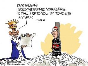 120225-obama-burned-qurans-bishop-first-amendment-freedom-religion