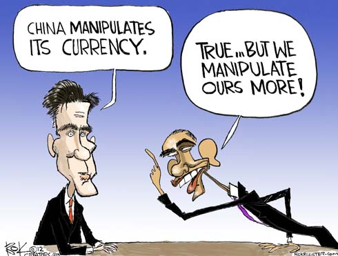 President Obama and Governor Romney discuss China and United States currency manipulation.