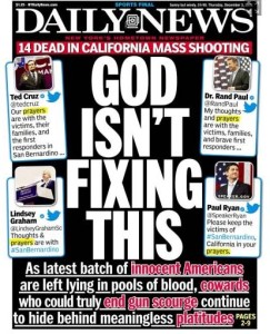 Front Page New York Daily News Dec 3. 2015