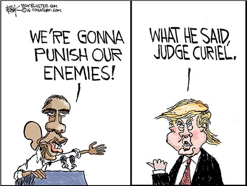 The Donald still feels the judge has it in for him