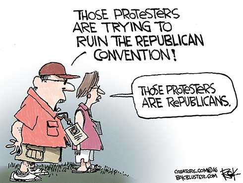 Republican Convention protestors