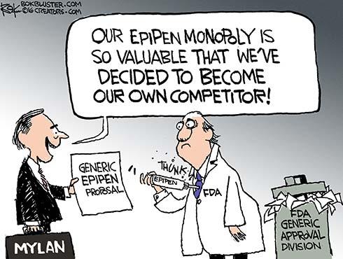 mylan monopoly