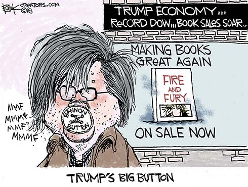 Image result for cartooning politics trump can't read books president trump in 2018