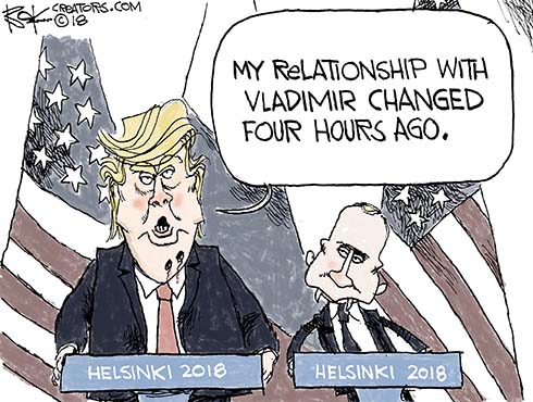 Helsinki conference, Trump, Putin