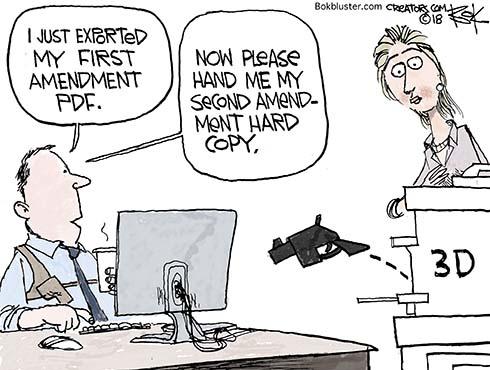 are 3d guns free speech
