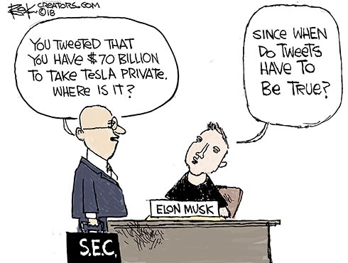 tesla, musk, private, s.e.c.