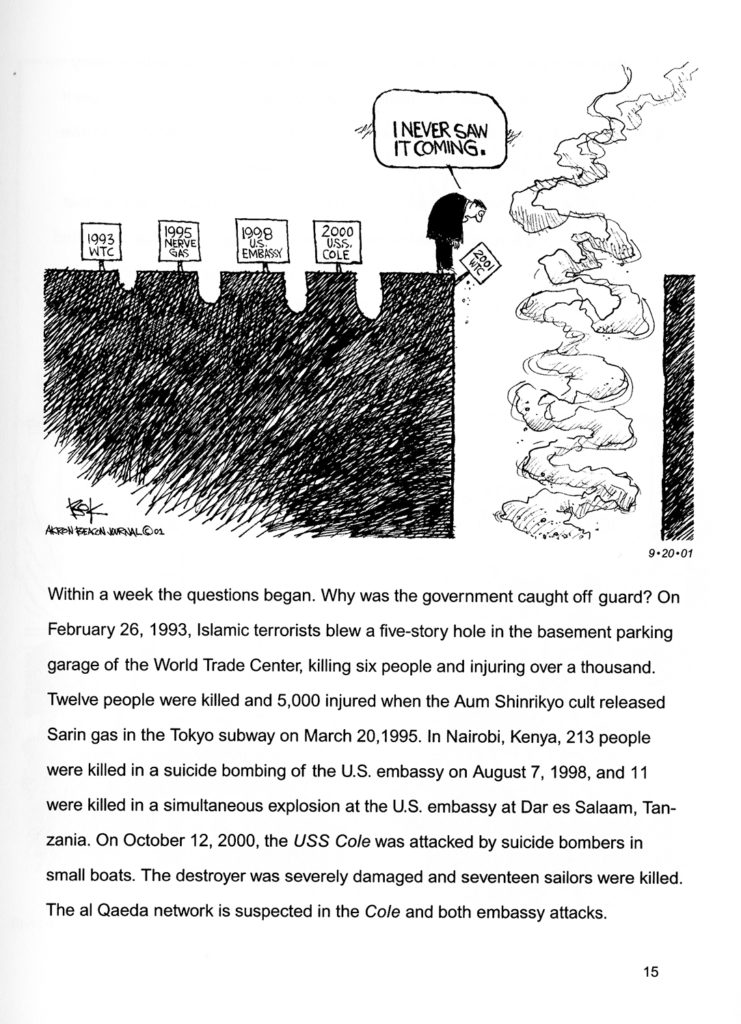 9/11 book - Bok! The 9.11 Crisis in Political Cartoons - Chip Bok, University of Akron Press 2002