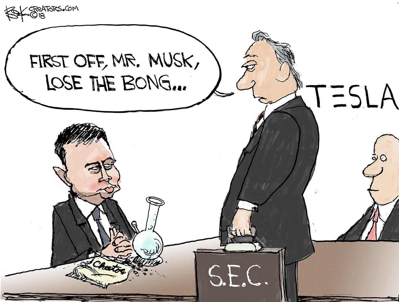 Elon Musk, bong, sec