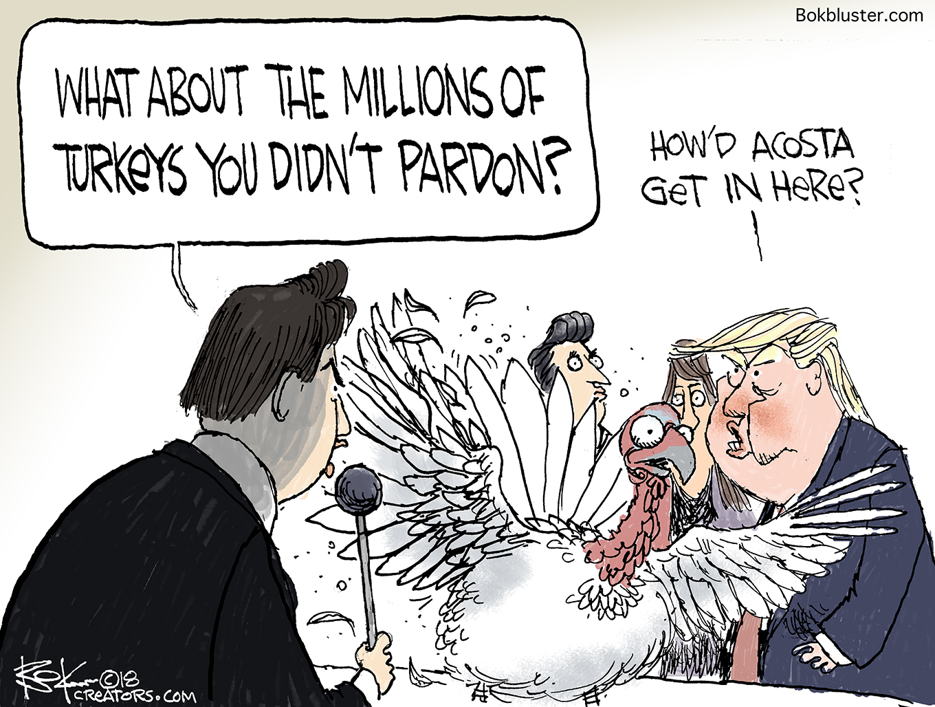media, acosta, thanksgiving turkey, pardon