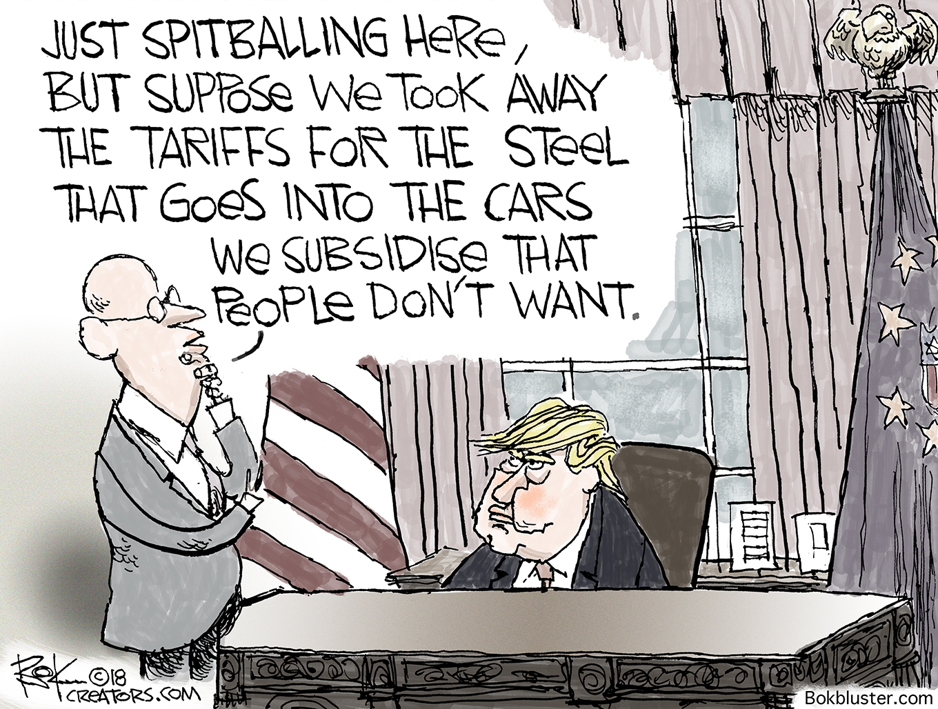 steel subsidy, tariff, trump