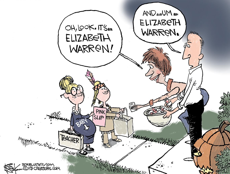 elizabeth warren, school teacher, first woman of color, pocahontas