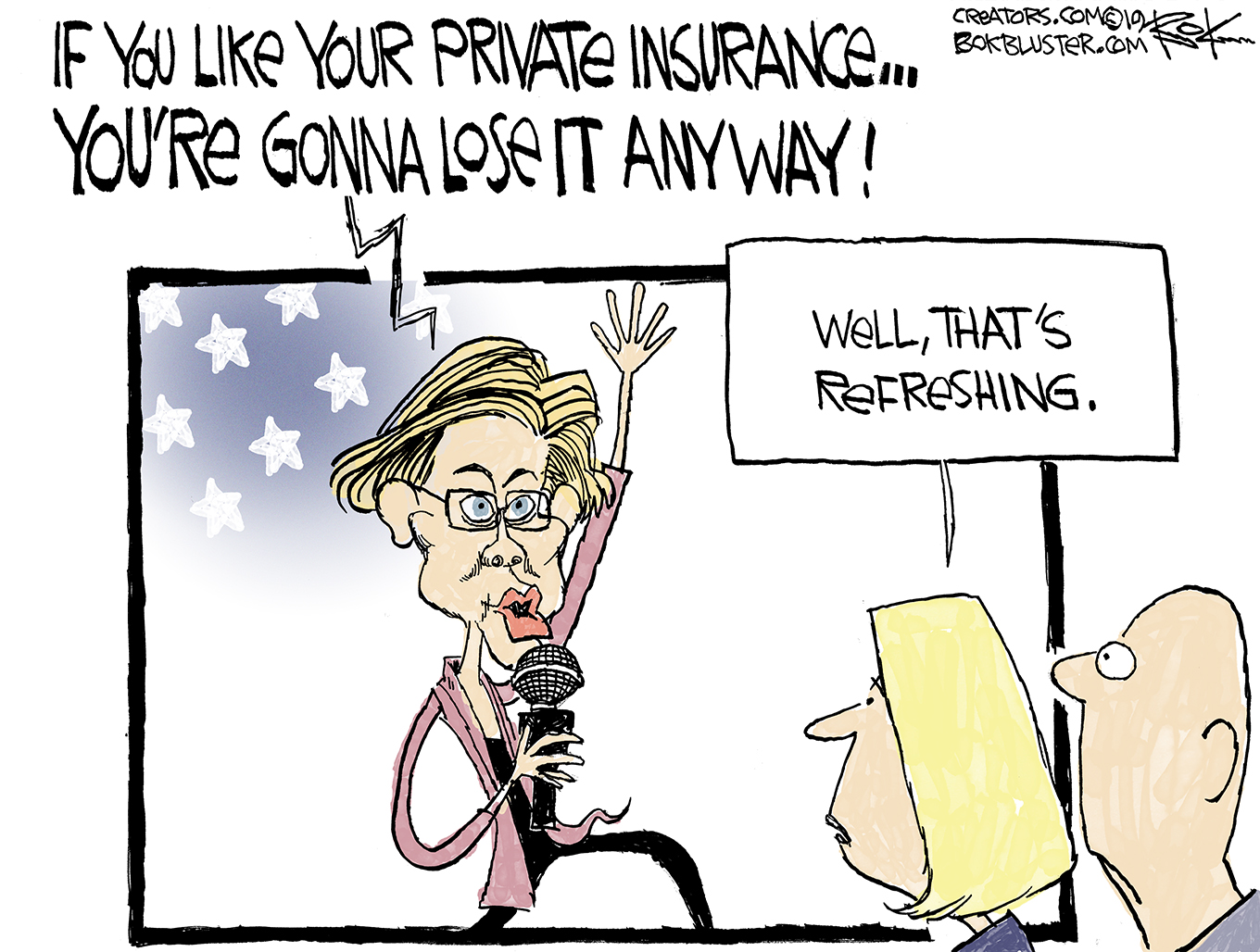 Elizabeth warren you will lose your private Private insurance