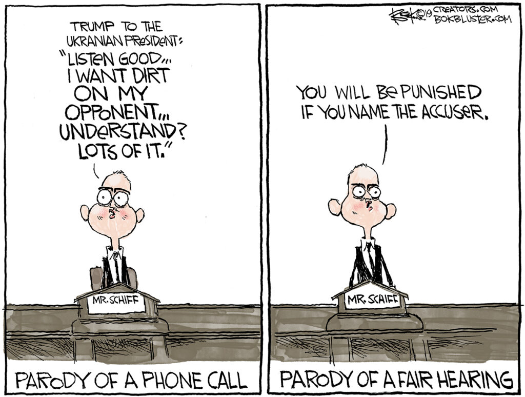 Due process, parody Schiff, impeachment hearing,
