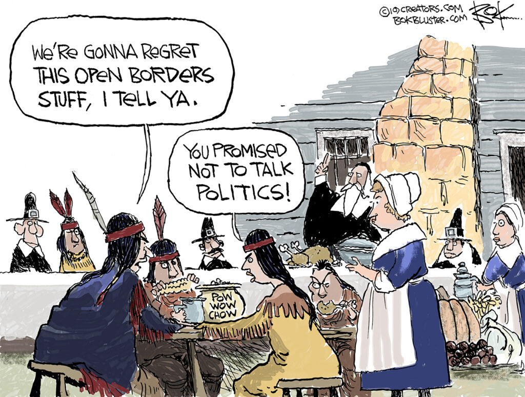 Thanksgiving, immigration, open borders, politics