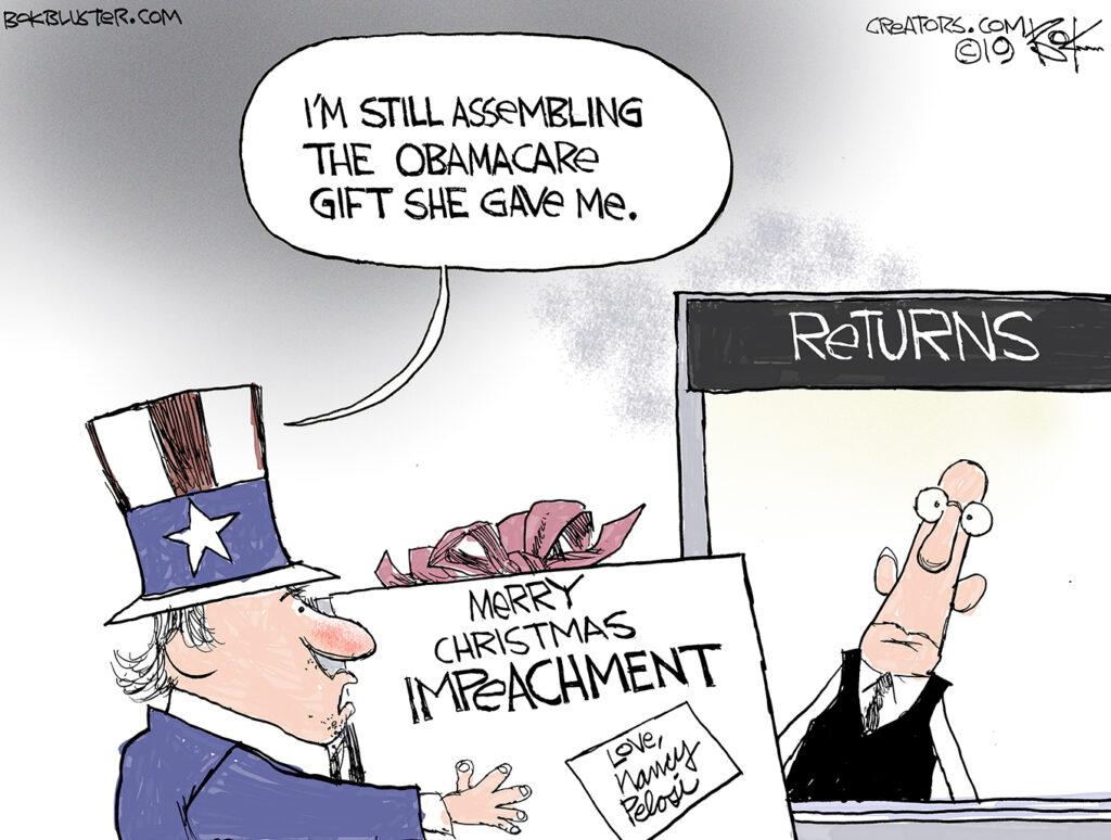 impeachment, obamacare, pelosi, christmas, gift return