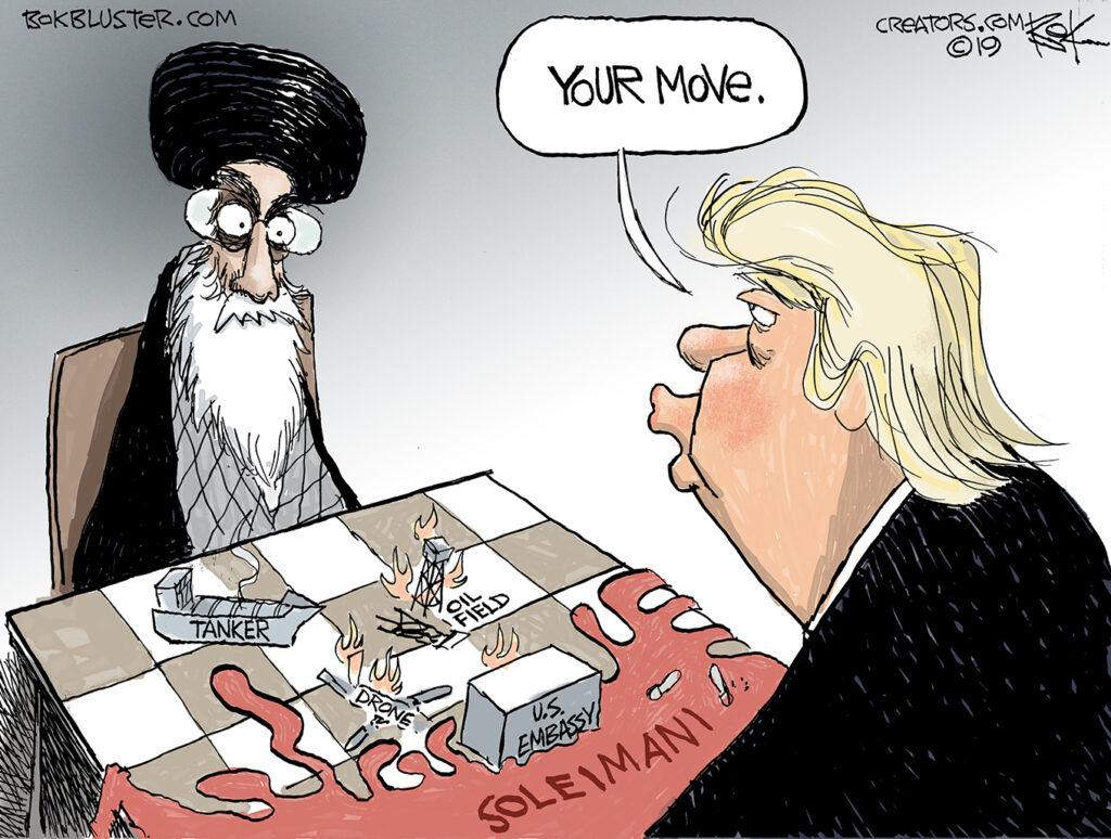 Soleimani, Trump, Ali Khamenei