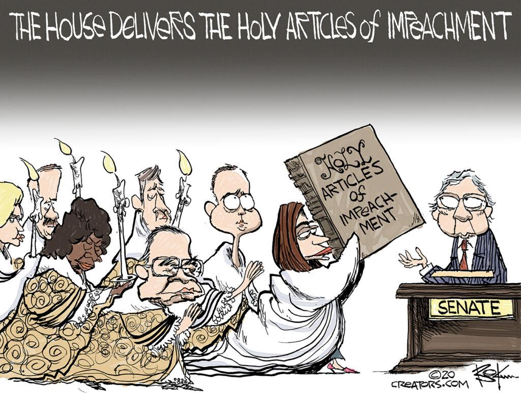 Pelosi, articles of impeachment, procession