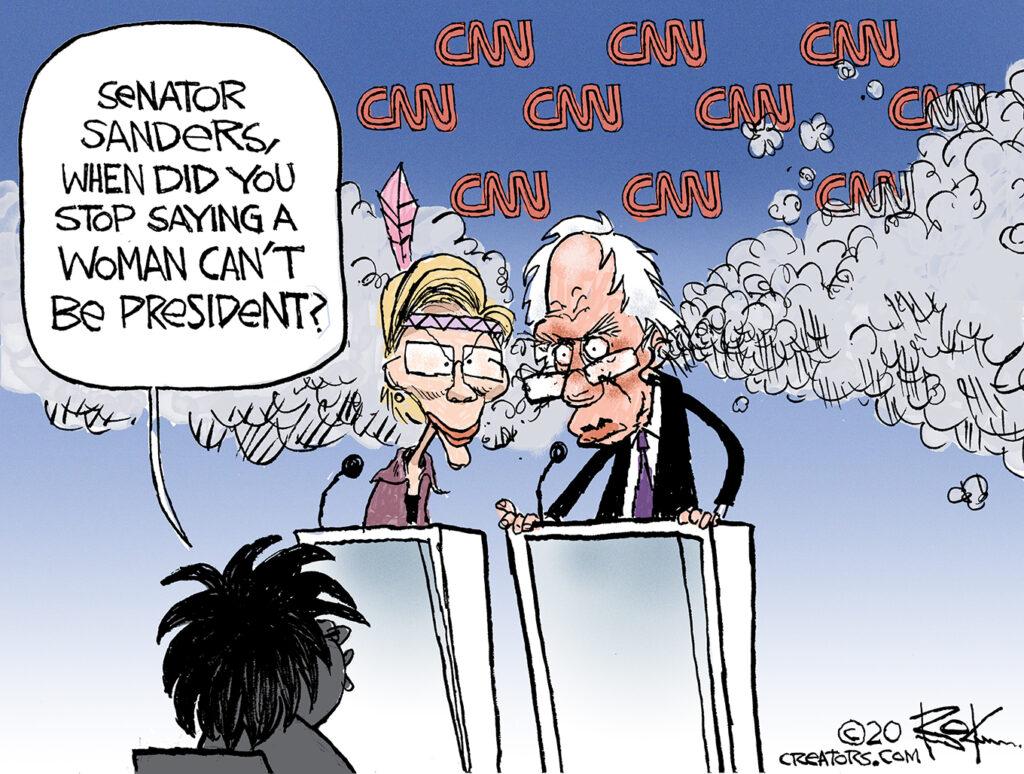 bernie sanders, cnn, woman, president, abby phillips