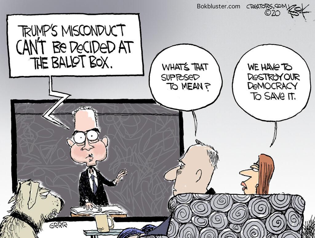 Adam Schiff, ballot box, rigged election, our Democracy, Trump cheats