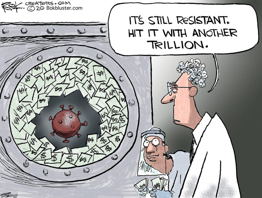 Uncle Sam, blew $3 trillion, government spending trillions on coronavirus