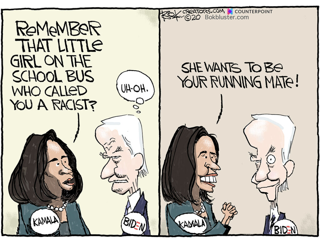 little girl on school bus, kamala harris, joe biden