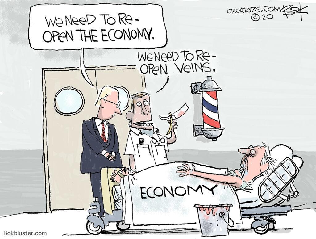 re-opening, economy, virus