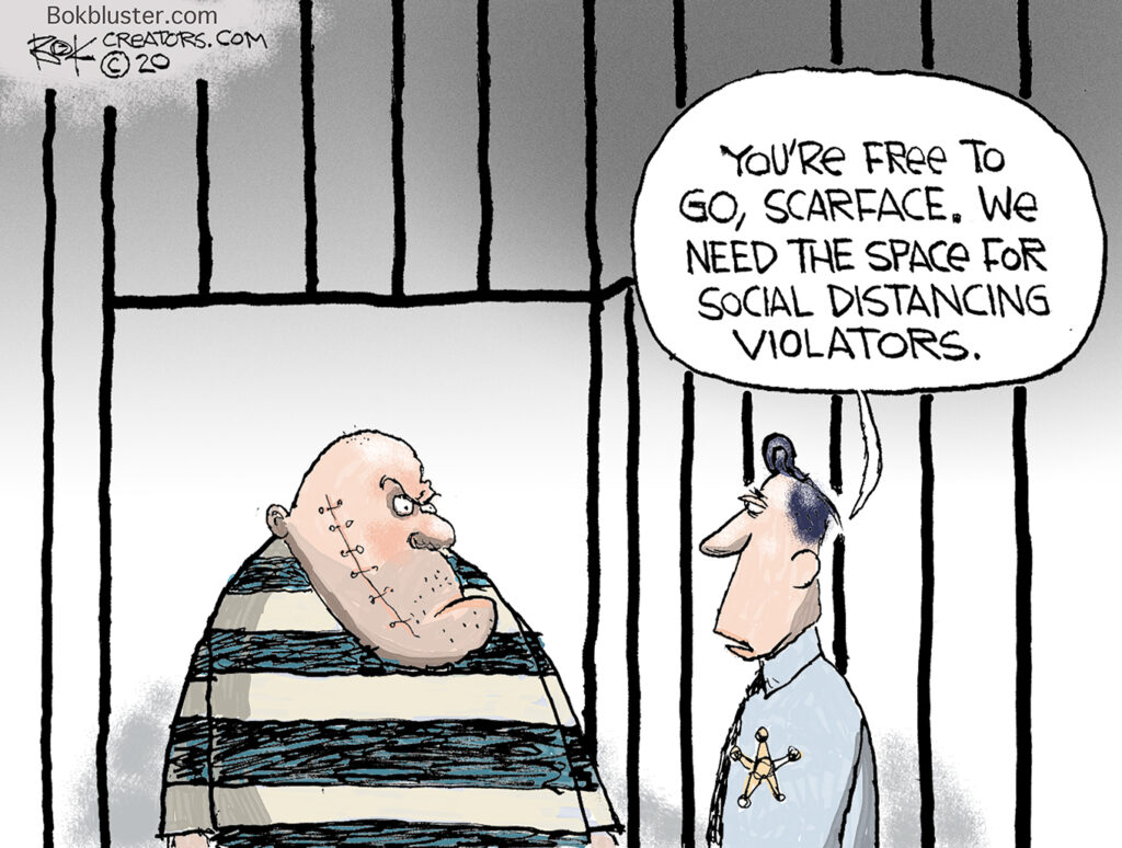 social distancing violators, Paul Manafort, home confinement