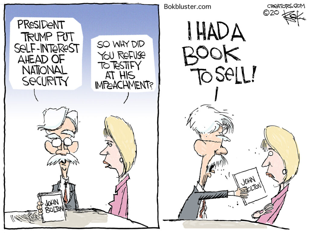 John Bolton cashing in, book to sell