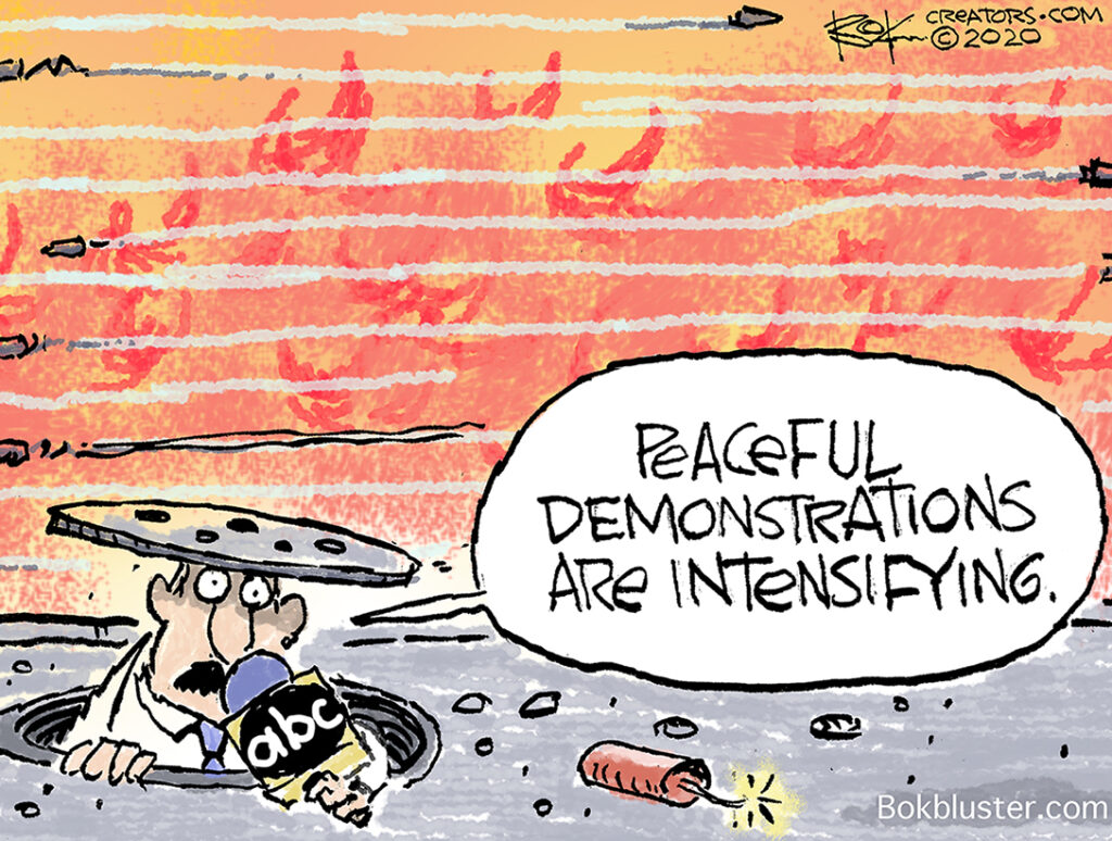 peaceful demonstrations, protests, media