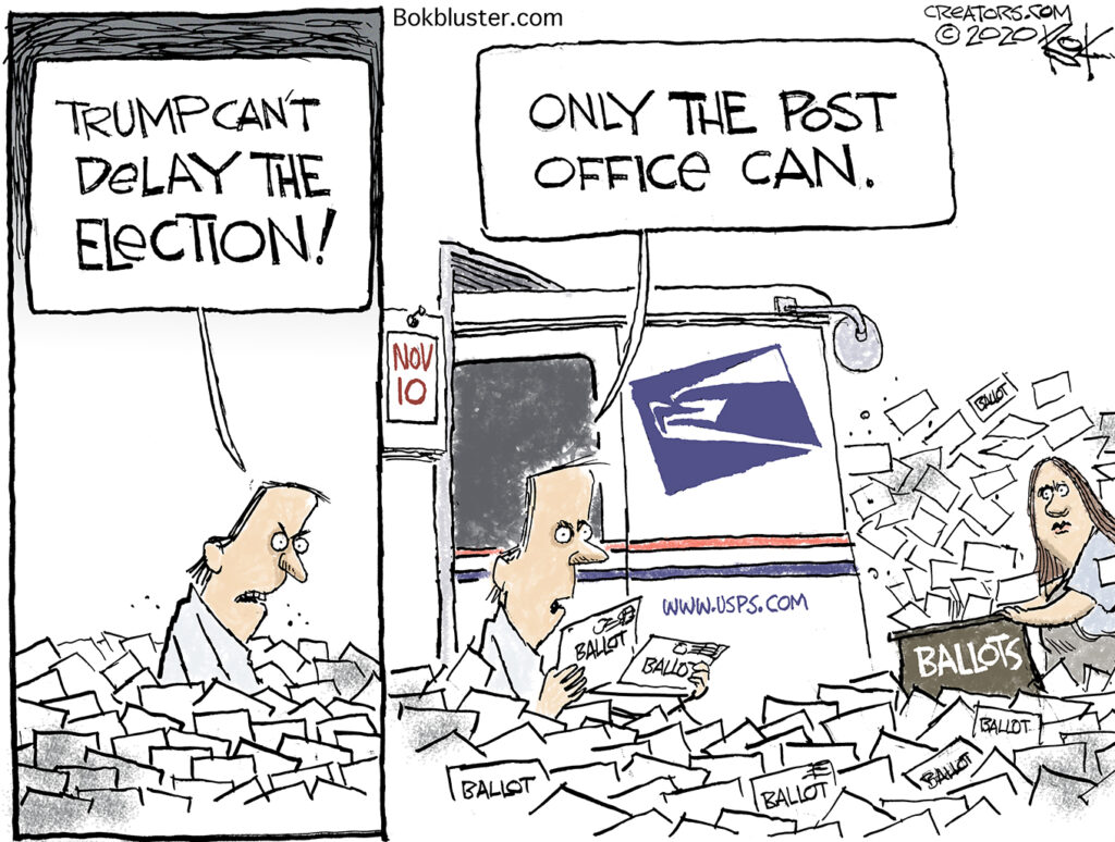 delaying the election, post office
