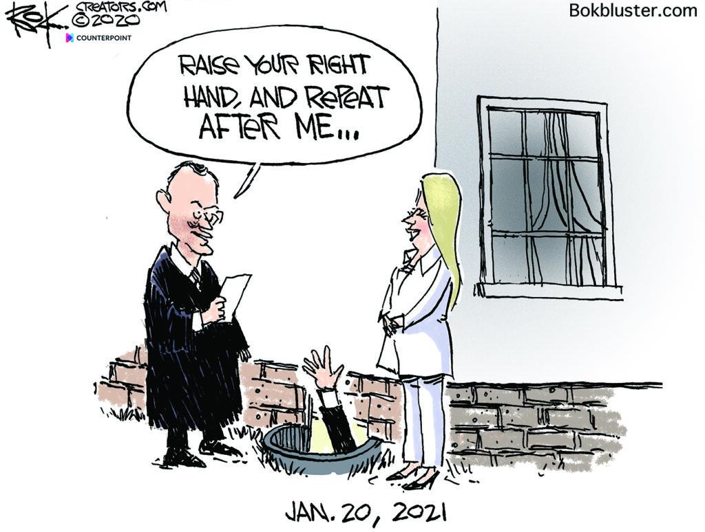 inauguration day, Biden, basement