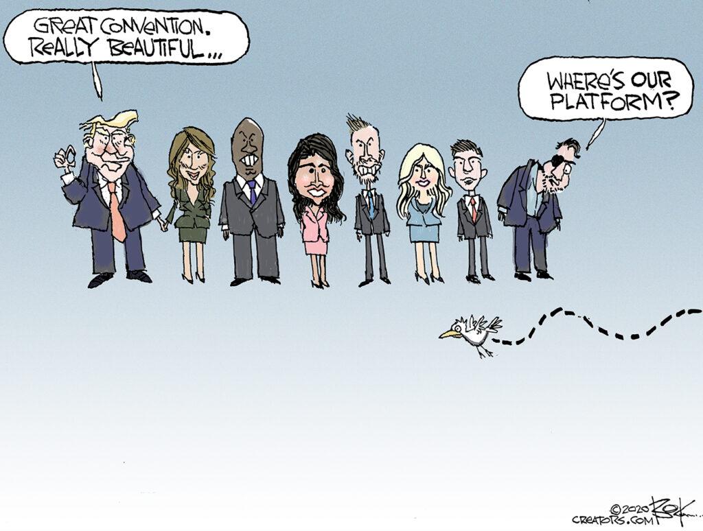 Trump acceptance speech, Republican platform
