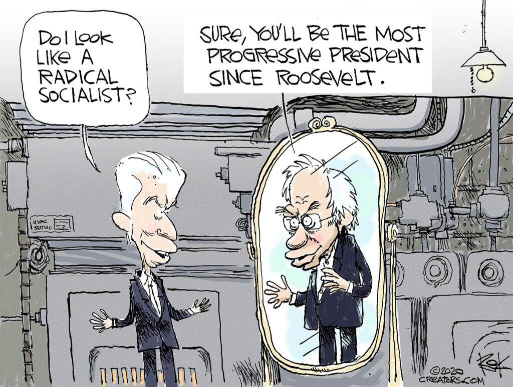 Do I look like a radical socialist, Biden, Bernie, Basement