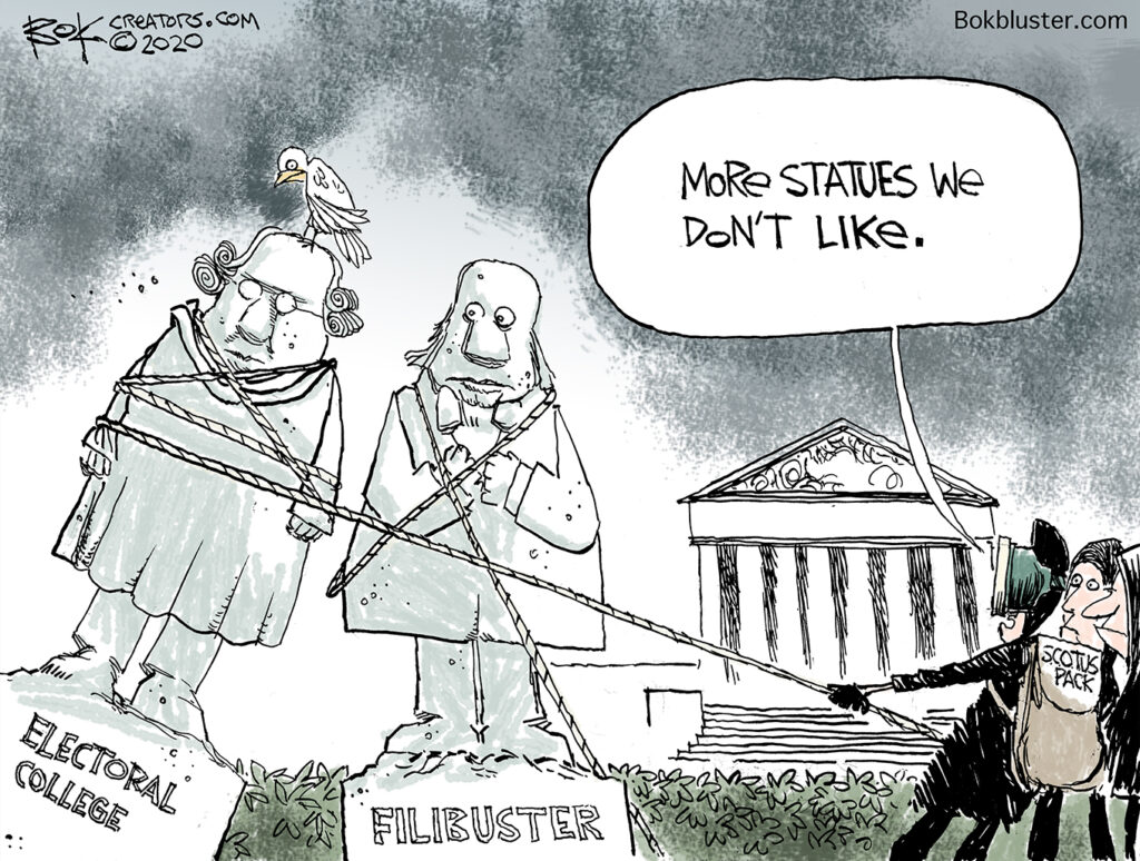 nothing off the table, electoral college, filibuster, pack the supreme court