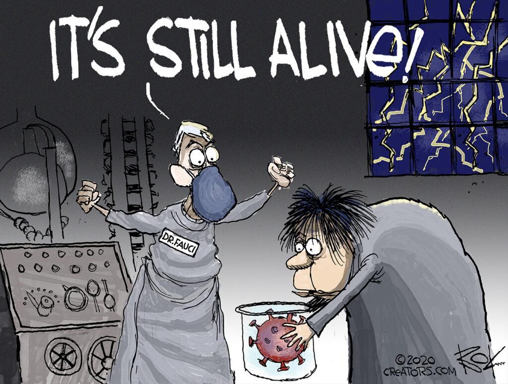 virus is soaring, stocks plunging,