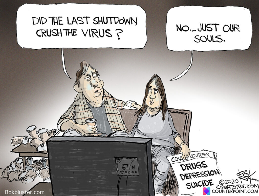 dark side of shutdowns, virus, vaccine