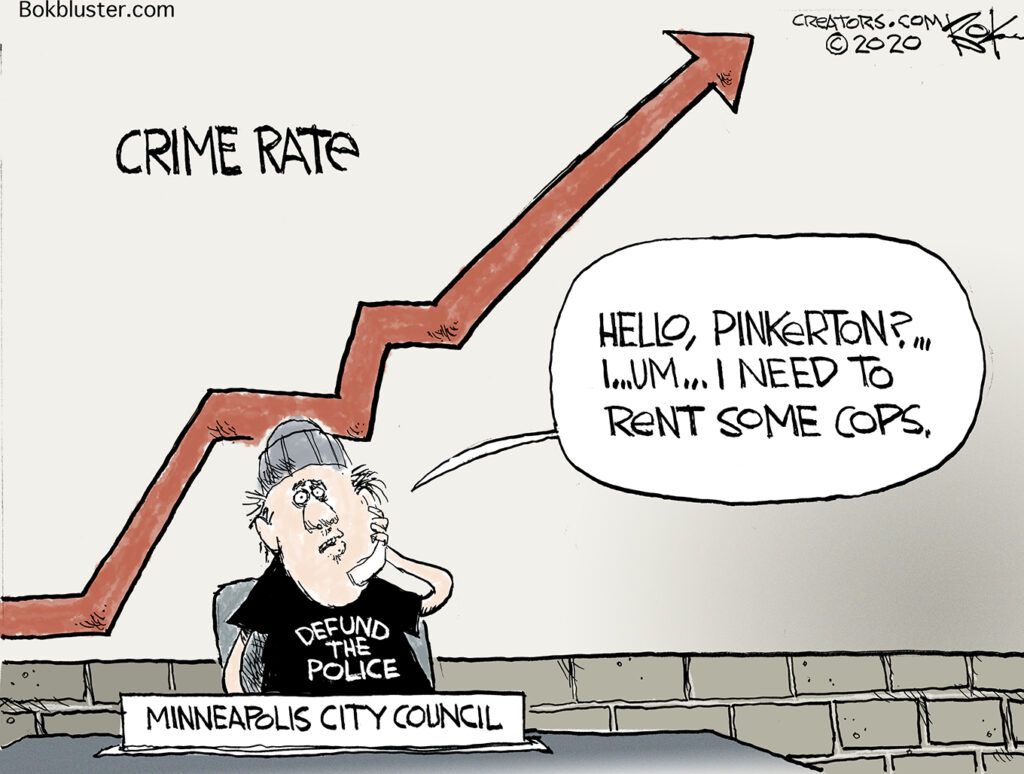 defund the police craze, Minneapolis city council