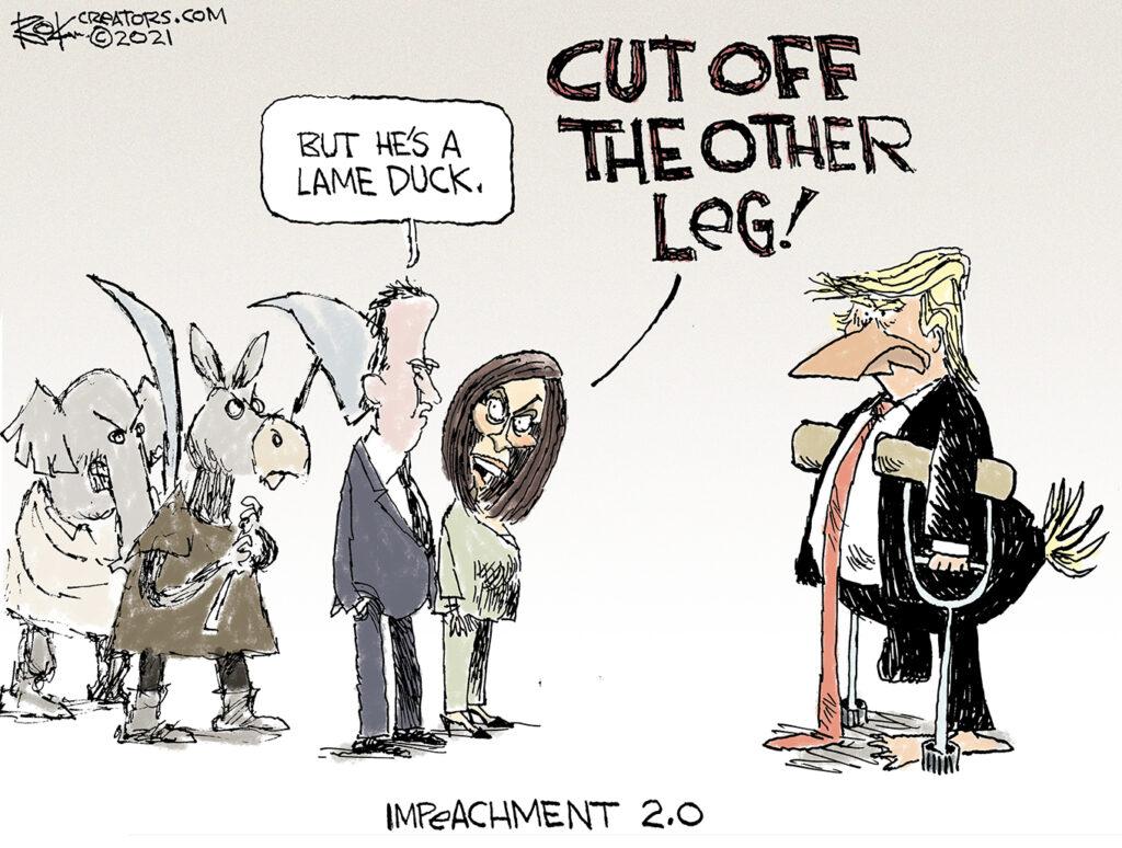 dump trump, lame duck impeached