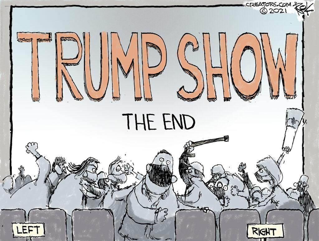 Trump show, biden inauguration
