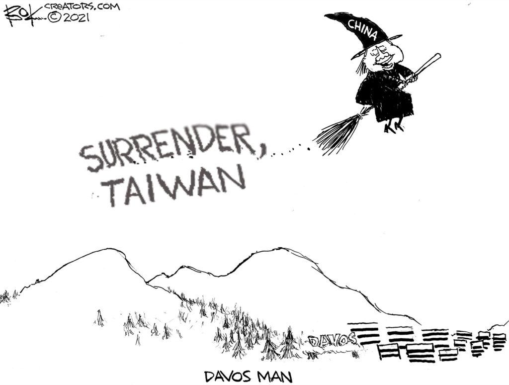 Davos Man, President Xi, Taiwan