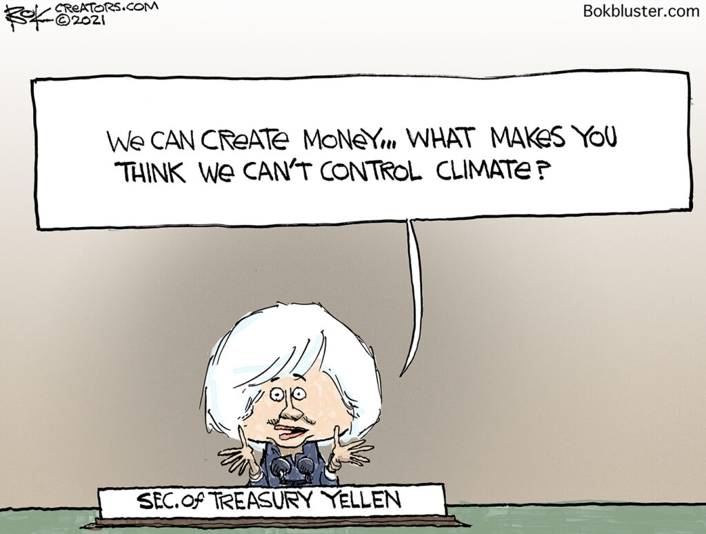 climate car, Yellen, treasury