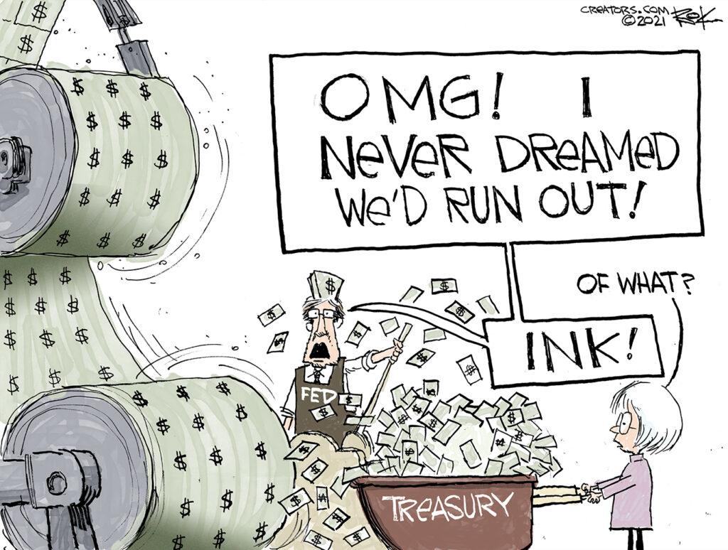Fed funny money, treasury, Yellen, debt