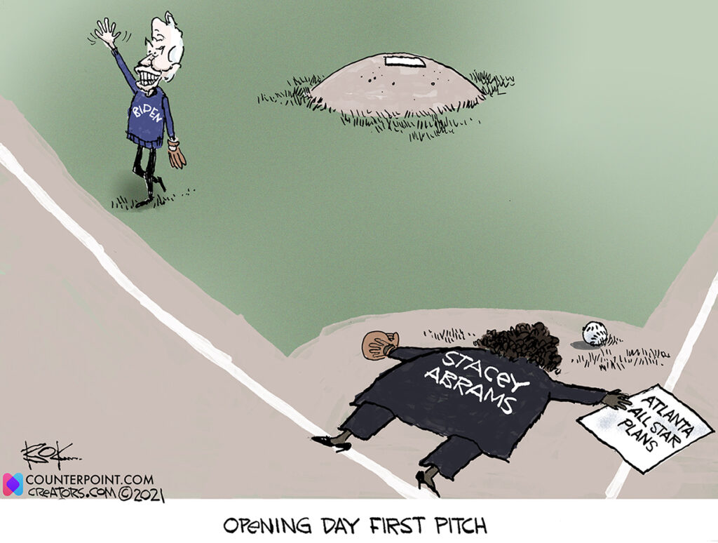 first pitch in georgia, biden, voting, jim crow, all star game