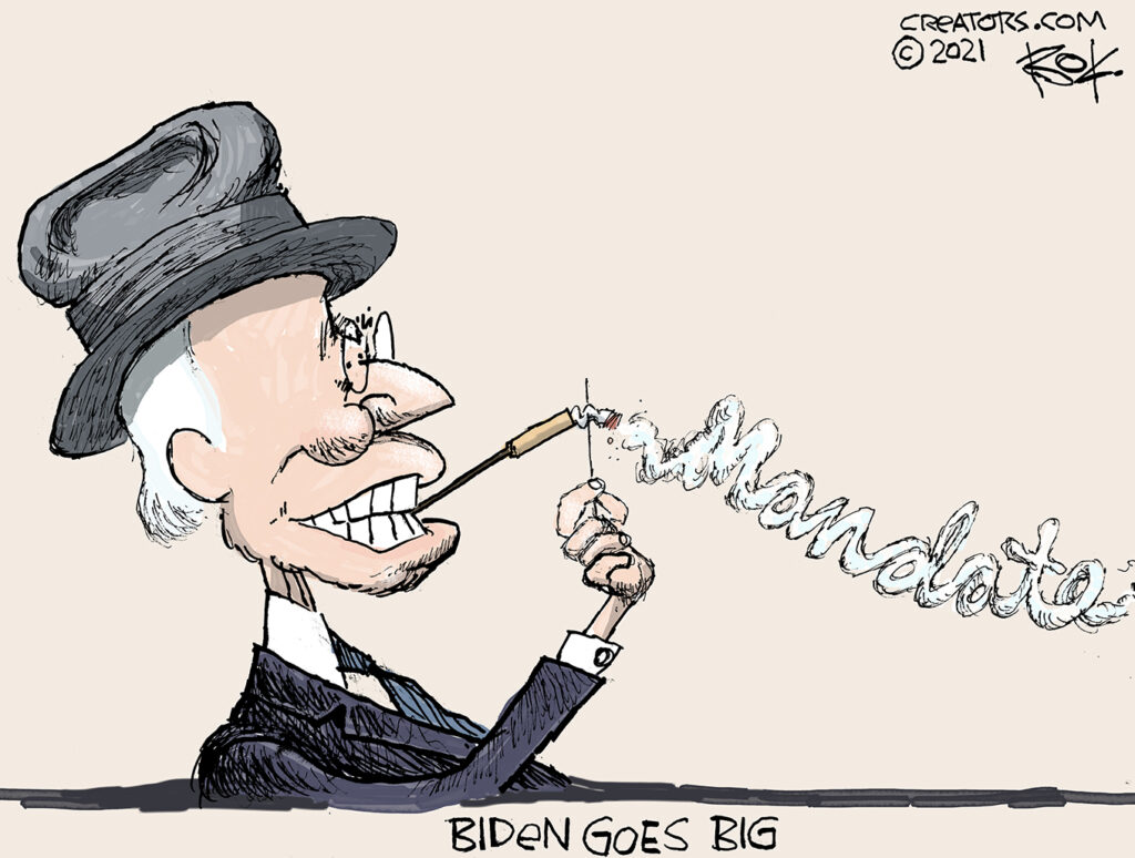 Biden goes big, FDR, mandate