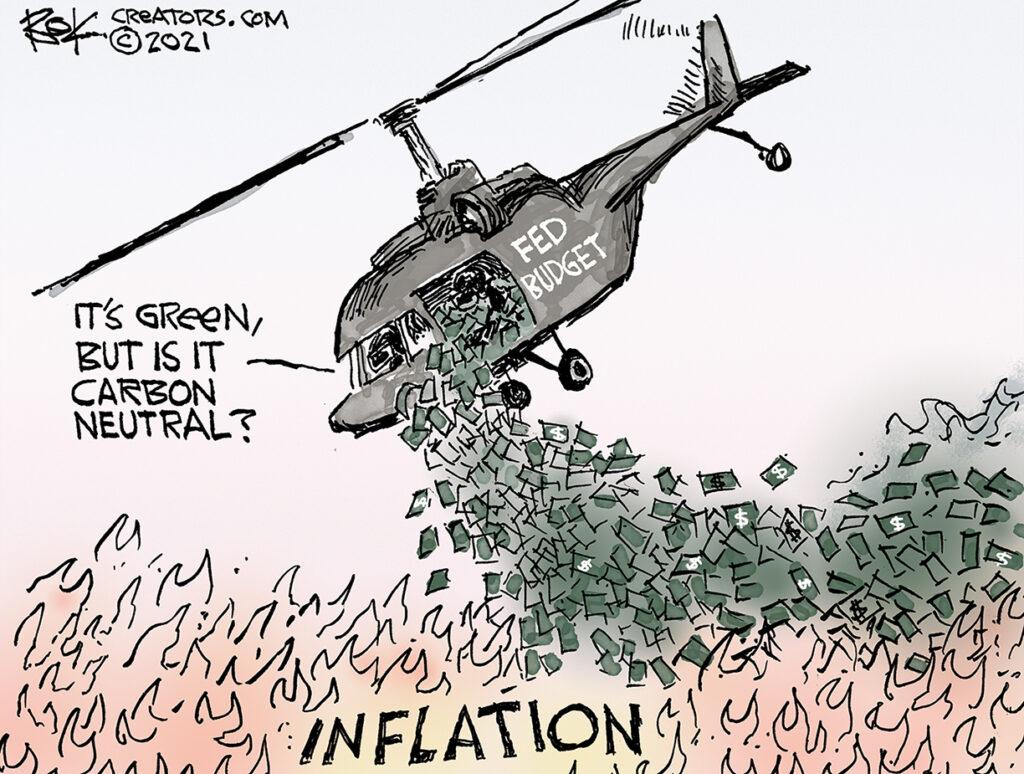 inflation fire, Fed, bond, Congress, Democrats, Republicans, It's green but is it carton neutral?
